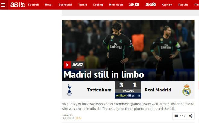 Real thua đau Tottenham: Báo Anh ngây ngất, triệu fan lo cho Zidane - 5