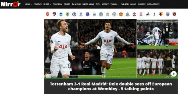 Real thua đau Tottenham: Báo Anh ngây ngất, triệu fan lo cho Zidane - 8