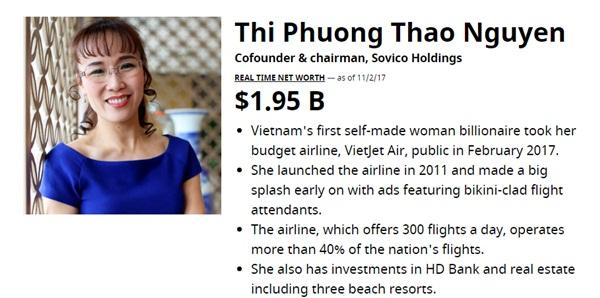 Nữ tỷ phú USD đầu tiên của Việt Nam lọt top 100 phụ nữ quyền lực nhất TG - 1