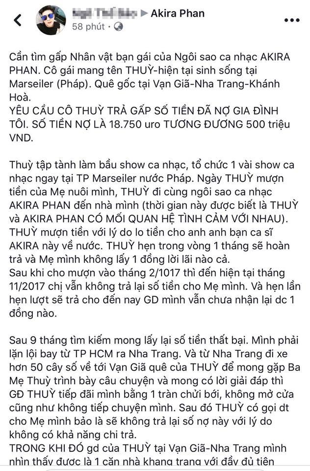 Akira Phan bị tố cùng bạn gái là bầu show hải ngoại quỵt nợ 500 triệu đồng - 1