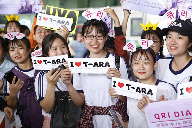 Fan Việt hoá trang, giăng băng rôn cầu hôn T-ara tại sân bay - 1