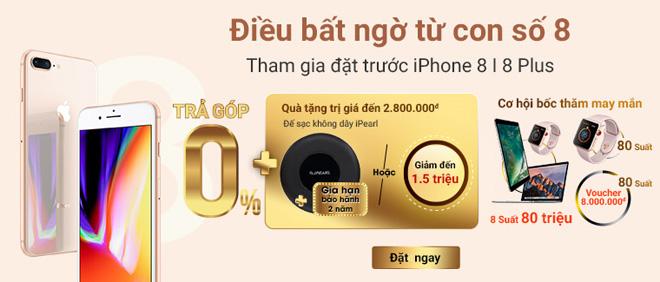 Đặt trước iPhone 8|8+ tại Viễn Thông A nhận quà tặng trị giá đến 2,8 triệu đồng - 1