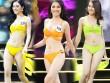 """Màn diễn bikini """"nảy lửa"""" của top 45 Hoa hậu Hoàn vũ Việt Nam"""