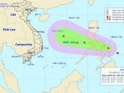 Áp thấp nhiệt đới giật cấp 8 đang hướng thẳng vào Biển Đông