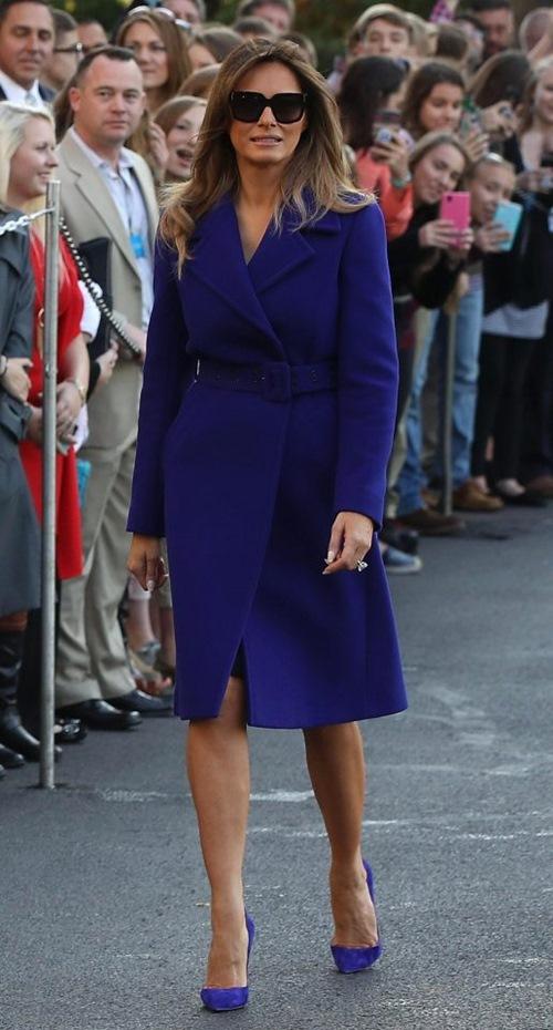 Thăm châu Á chục ngày, vợ đẹp của Tổng thống Trump chi bạc tỷ cho váy áo - 3
