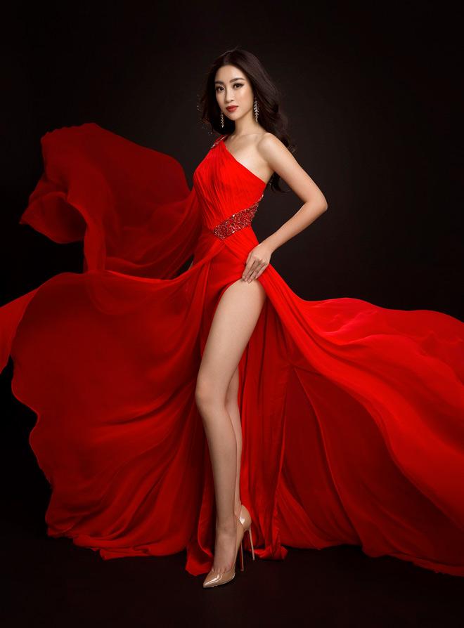 Hoa hậu Mỹ Linh lần đầu mặc xẻ cao đến thế ở Hoa hậu Thế giới - 1