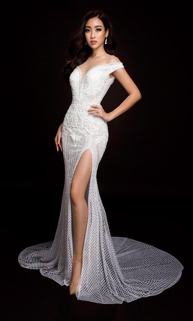 Hoa hậu Mỹ Linh lần đầu mặc xẻ cao đến thế ở Hoa hậu Thế giới - 4