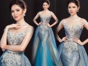 """Lộ váy dạ hội  """" đụng hàng """"  Huyền My của Thùy Dung tại HH Quốc tế"""