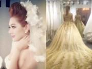 """Lộ clip thử váy cưới siêu lung linh của Lâm Khánh Chi  """" đốn tim """"  fan"""