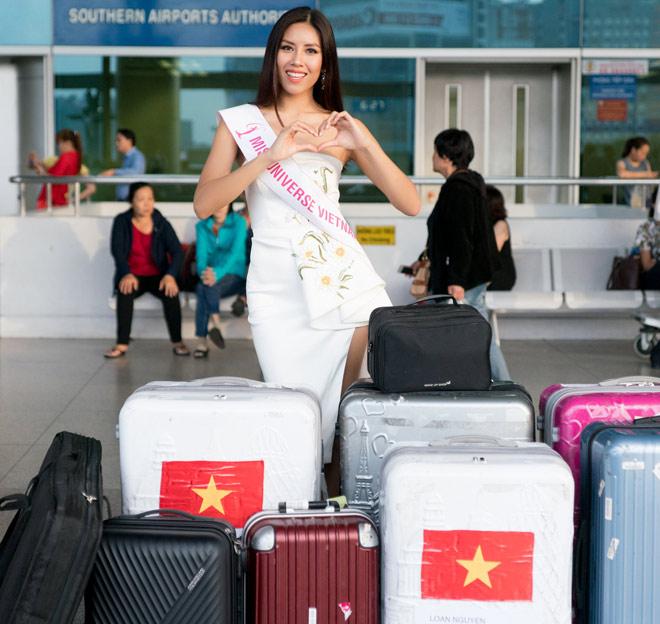 Nguyễn Thị Loan mặc trễ nải đi Mỹ thi hoa hậu Hoàn vũ - 4
