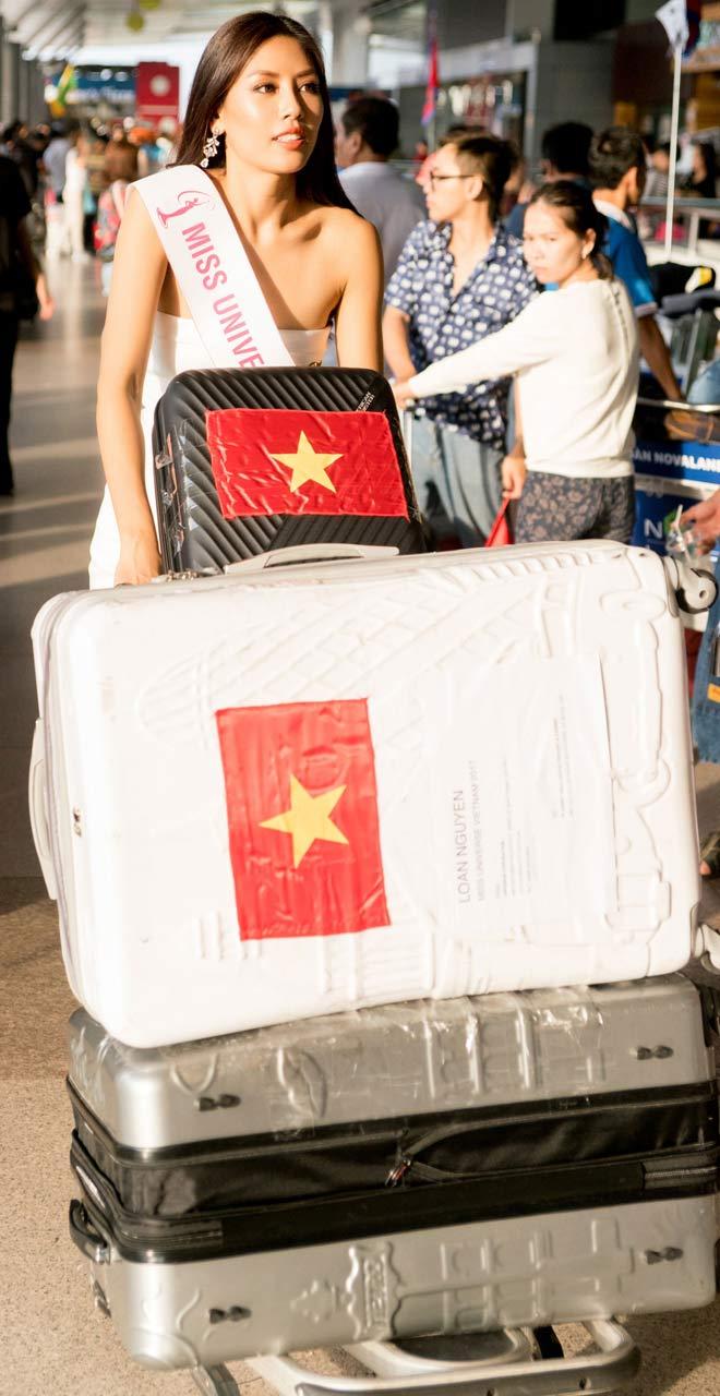 Nguyễn Thị Loan mặc trễ nải đi Mỹ thi hoa hậu Hoàn vũ - 7