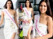 Nguyễn Thị Loan mặc trễ nải đi Mỹ thi hoa hậu Hoàn vũ