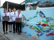Phu nhân Tổng thống Hàn Quốc thăm làng bích họa Tam Thanh