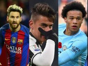 Kèo trái đồng loạt thống trị châu Âu: Messi, Dybala, Sane