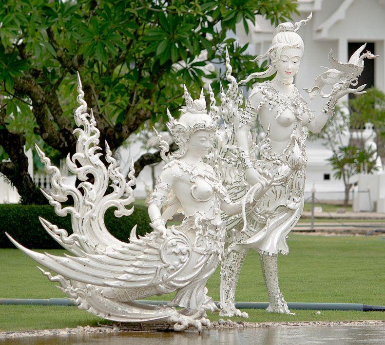 Khám phá ngôi đền trắng kỳ dị ở Thái Lan - 3