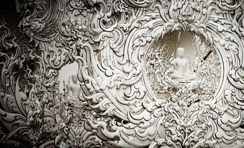 Khám phá ngôi đền trắng kỳ dị ở Thái Lan - 7