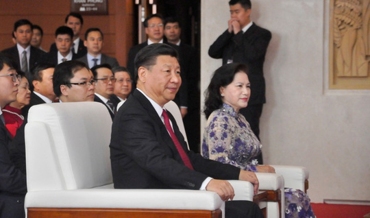 Chủ tịch Tập Cận Bình dự lễ khánh thành Cung hữu nghị Việt - Trung - 3