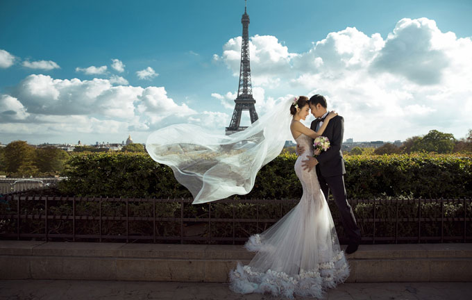 """Ảnh cưới đẹp tới nín thở của """"mỹ nữ Vũng Tàu đi xe 70 tỷ"""" bên đại gia hơn 18 tuổi - 2"""