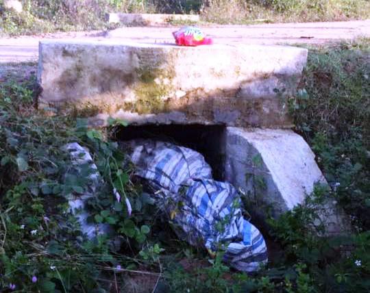 Người phụ nữ bị sát hại, quấn xác trong bạt, nhét dưới cống - 1