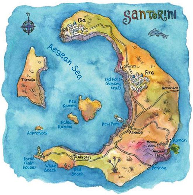 """Santorini - Những điều nhất định phải biết về """"hòn đảo của các thiên thần"""" - 4"""