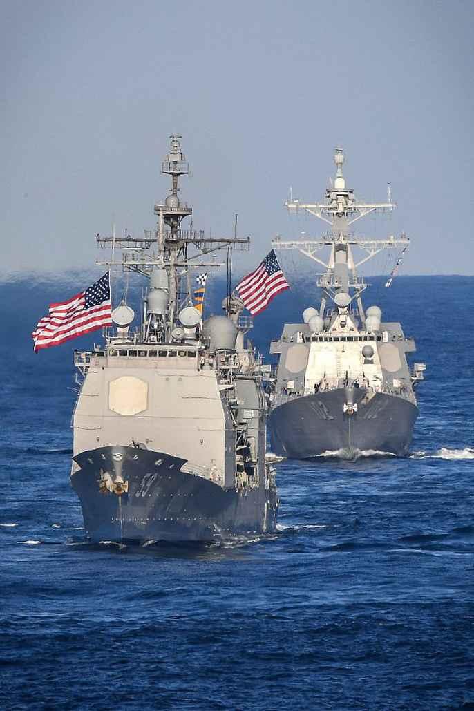 Cận cảnh cuộc tập trận hiếm của 3 tàu sân bay Mỹ - 5