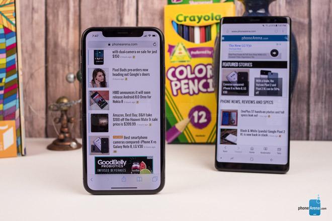 """So sánh iPhone X với Galaxy Note 8: """"Cuộc chạm trán nảy lửa"""" - 6"""