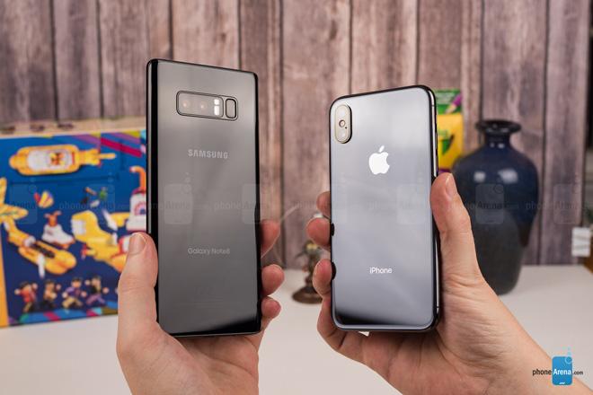"""So sánh iPhone X với Galaxy Note 8: """"Cuộc chạm trán nảy lửa"""" - 14"""