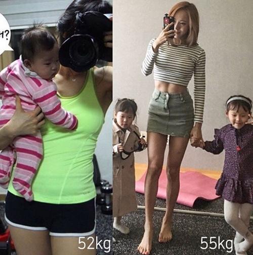 """Bao anh """"suy tim"""" vì rãnh bụng sâu hun hút của bà mẹ hai con Hàn Quốc - 4"""