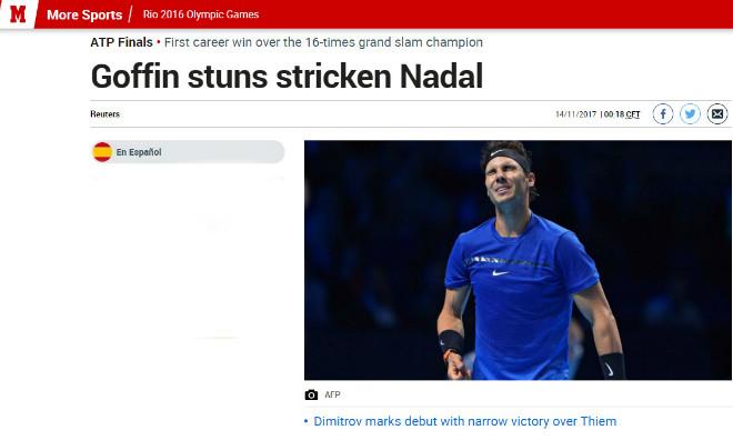 """Nadal chia tay ATP Finals: Báo chí """"cược tất tay"""" cho Federer - 3"""