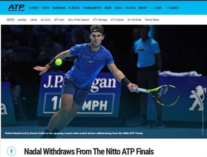 """Nadal chia tay ATP Finals: Báo chí """"cược tất tay"""" cho Federer - 4"""