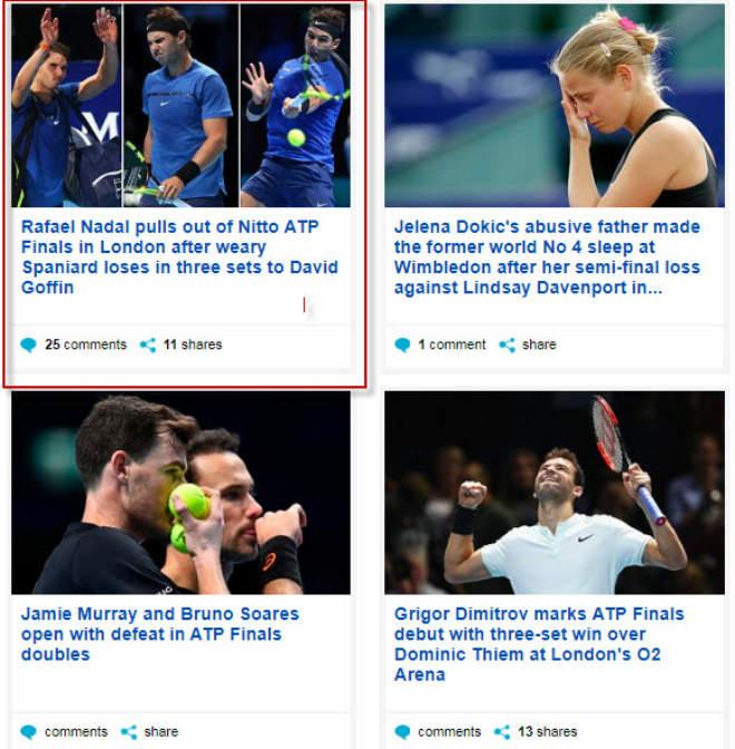 """Nadal chia tay ATP Finals: Báo chí """"cược tất tay"""" cho Federer - 5"""