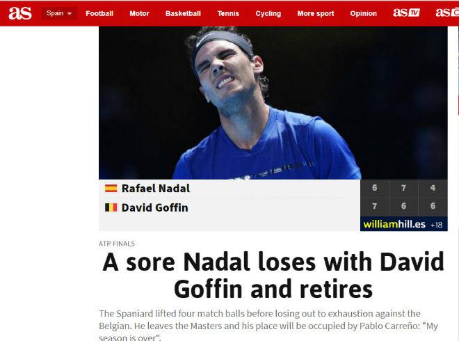"""Nadal chia tay ATP Finals: Báo chí """"cược tất tay"""" cho Federer - 2"""