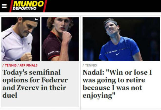 """Nadal chia tay ATP Finals: Báo chí """"cược tất tay"""" cho Federer - 6"""