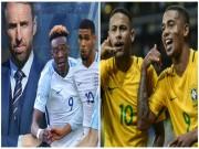 """ĐT Anh - Brazil: Neymar ra oai,  """" Sư tử non """"  khó gầm vang"""