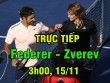 Chi tiết Federer - Zverev: Tốc hành giành 3 break (ATP Finals) (KT)