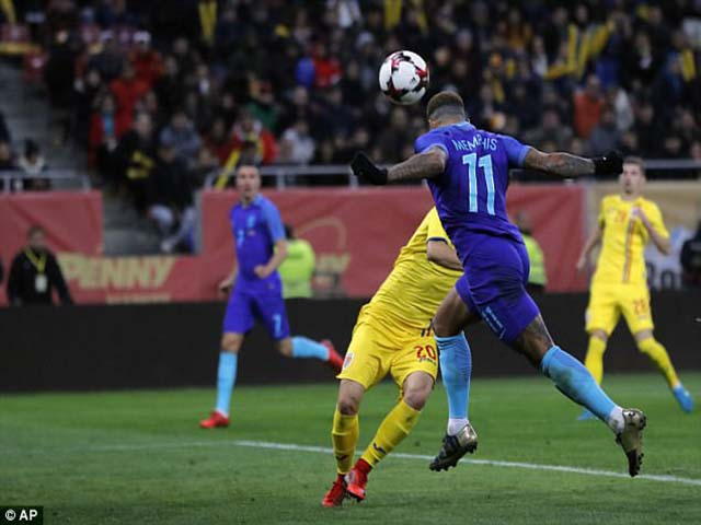 """Video, kết quả bóng đá Romania - Hà Lan: Người cũ MU """"gánh team"""", chiến quả xứng đáng"""