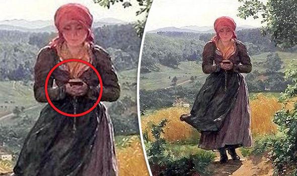 """Bức tranh cô gái cầm """"điện thoại thông minh"""" cách đây 150 năm - 1"""