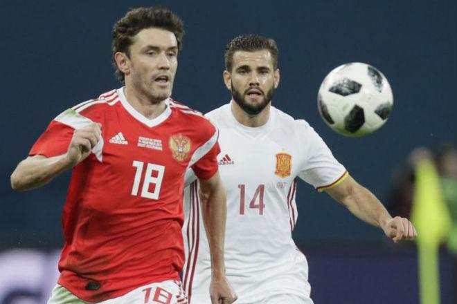 ĐT Nga - Tây Ban Nha: 2 quả phạt đền, rượt đuổi gây sốc - 1