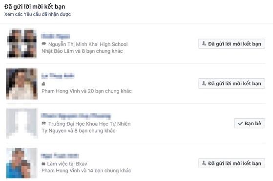 Mẹo xem ai phớt lờ lời mời kết bạn Facebook - 3