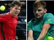 Goffin - Thiem: Giằng co set 1, sụp đổ set 2 (ATP Finals)