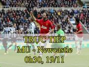TRỰC TIẾP bóng đá MU - Newcastle: Ibrahimovic có thể đá cặp Lukaku