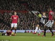 """TRỰC TIẾP MU - Newcastle: Lindelof trượt chân, """"Quỷ đỏ"""" thủng lưới"""