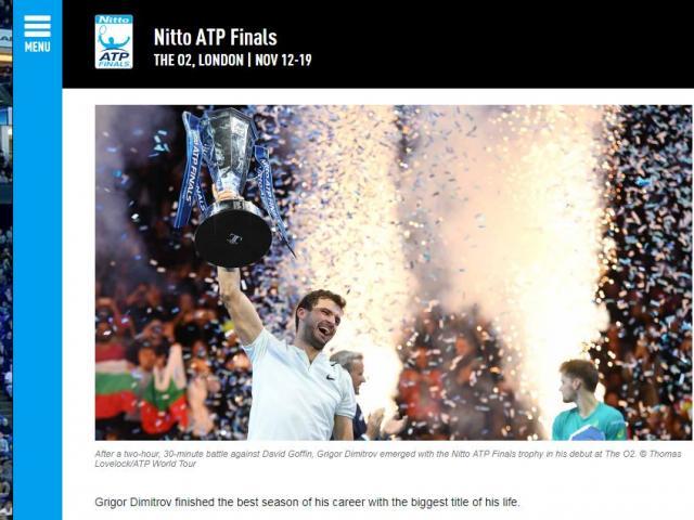 """Dimitrov lập kỉ lục ATP Finals: Báo chí ngợi ca """"nhạc trưởng"""" đại tài"""