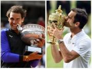 """"""" Các vị thần """"  tennis 2017: Nadal - Federer chia nửa giang sơn"""