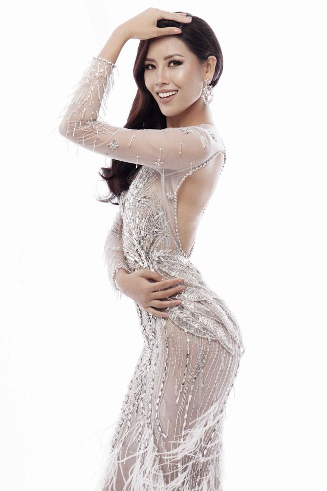 Nguyễn Thị Loan mặc mỏng manh như sương thi Hoa hậu Hoàn vũ - 3