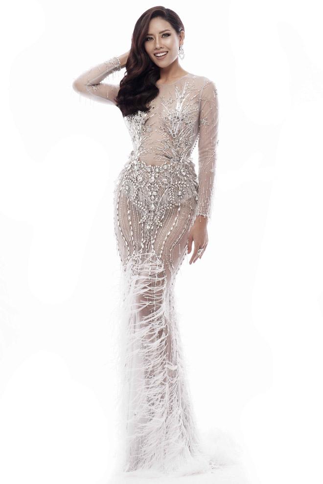 Nguyễn Thị Loan mặc mỏng manh như sương thi Hoa hậu Hoàn vũ - 2
