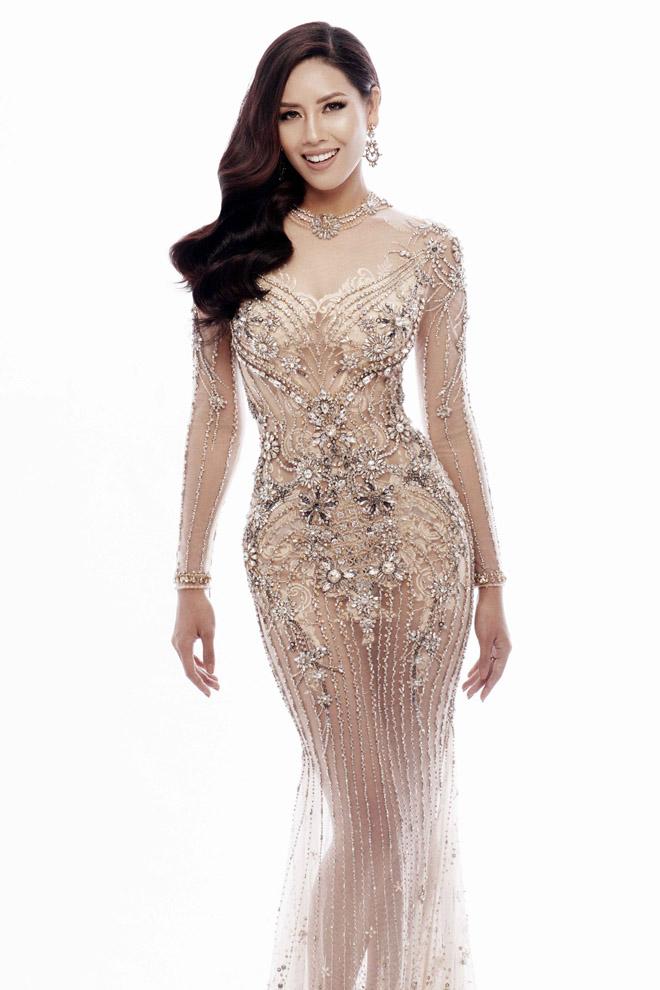 Nguyễn Thị Loan mặc mỏng manh như sương thi Hoa hậu Hoàn vũ - 7