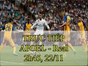 Chi tiết APOEL Nicosia - Real Madrid: Không có bàn thắng thứ 7 (KT)