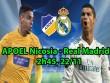 "APOEL Nicosia - Real Madrid: ""Hổ dữ"" Ronaldo khoe nanh vuốt"