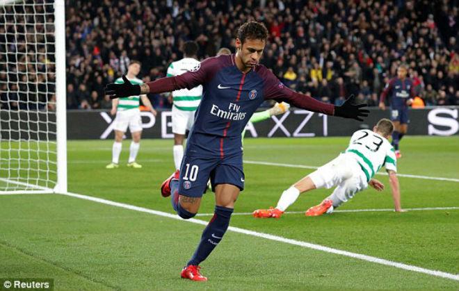 """PSG - Celtic: Neymar rực sáng, tưng bừng """"tiệc"""" 8 bàn - 1"""